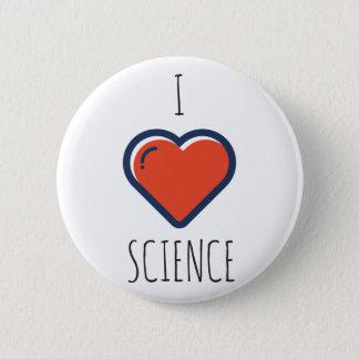 Badge Rond 5 Cm J'aime la Science