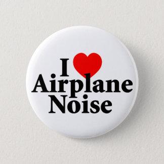 Badge Rond 5 Cm J'aime le bruit d'avion