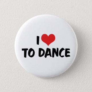 Badge Rond 5 Cm J'aime le coeur pour danser - l'amant de valse de