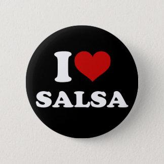 Badge Rond 5 Cm J'aime le Salsa