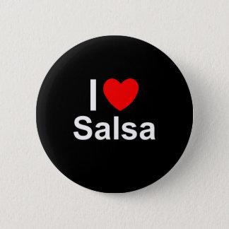 Badge Rond 5 Cm J'aime le Salsa de coeur