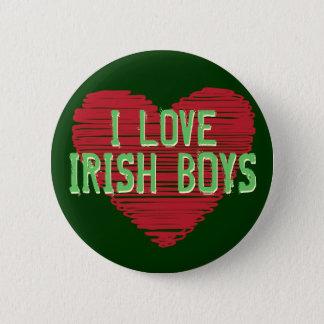 Badge Rond 5 Cm J'aime les garçons irlandais ! Bouton du jour de