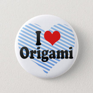 Badge Rond 5 Cm J'aime l'origami