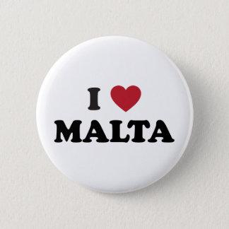 Badge Rond 5 Cm J'aime Malte