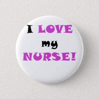 Badge Rond 5 Cm J'aime mon infirmière