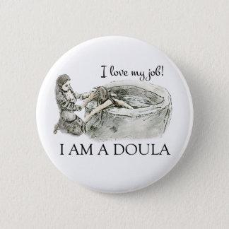 Badge Rond 5 Cm J'aime mon travail ! Insigne de Doula