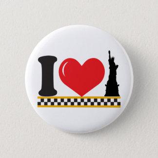 Badge Rond 5 Cm J'aime New York