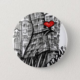 Badge Rond 5 Cm J'aime Prague