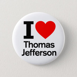 Badge Rond 5 Cm J'aime Thomas Jefferson
