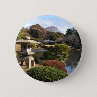Badge Rond 5 Cm Jardin de zen à Tokyo, Japon