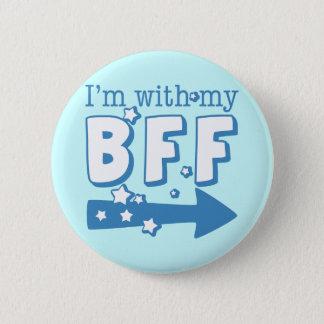 Badge Rond 5 Cm Je suis avec mon BFF (droit)