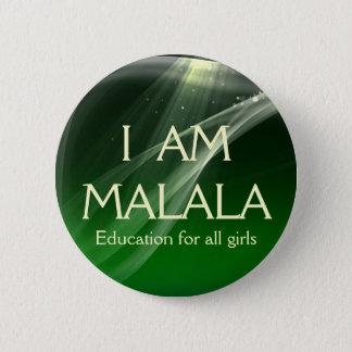 Badge Rond 5 Cm Je suis éducation de Malala pour toutes les filles