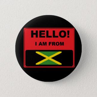 """Badge Rond 5 Cm """"Je suis insigne Jamaïque"""""""