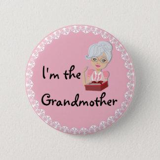 Badge Rond 5 Cm Je suis la grand-mère