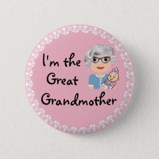 Badge Rond 5 Cm Je suis l'arrière grand-mère