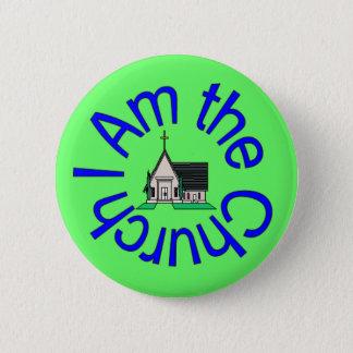 Badge Rond 5 Cm Je suis le bouton d'église