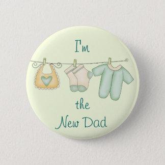 Badge Rond 5 Cm Je suis le nouveau faire-part de bébé de papa