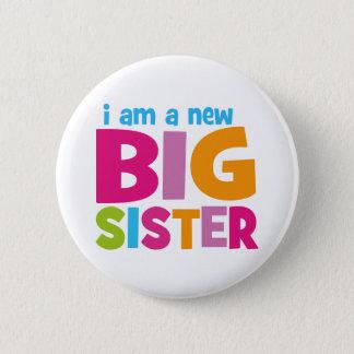 Badge Rond 5 Cm Je suis une nouvelle grande soeur