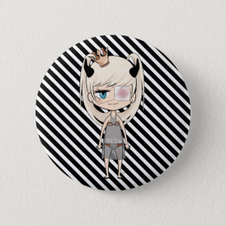 Badge Rond 5 Cm Je suis une princesse Pin de Chibi