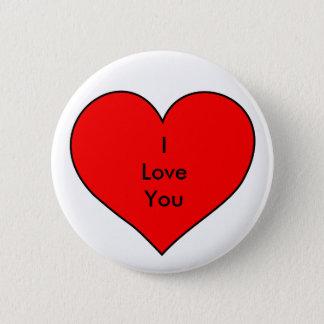 Badge Rond 5 Cm Je t'aime insigne de bouton de goupille