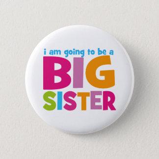 Badge Rond 5 Cm Je vais être une grande soeur