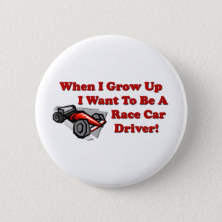 Badge Rond 5 Cm Je veux être un pilote de voiture de course