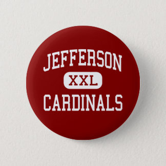 Badge Rond 5 Cm Jefferson - cardinaux - haut - l'Alexandrie