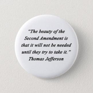 Badge Rond 5 Cm Jefferson - deuxième amendement