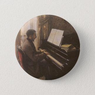 Badge Rond 5 Cm Jeune homme jouant le piano par Gustave