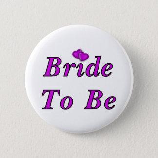 Badge Rond 5 Cm Jeune mariée à être simplement amour