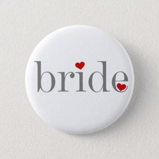 Badge Rond 5 Cm Jeune mariée grise des textes