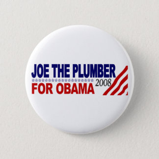 Badge Rond 5 Cm Joe le plombier pour Obama