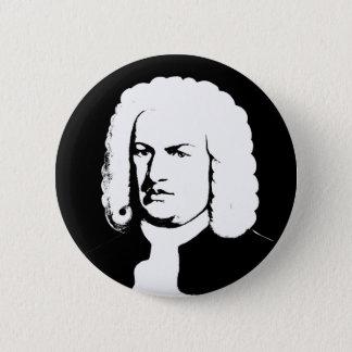 Badge Rond 5 Cm Johann Sebastian Bach abstraitement dans noirs et
