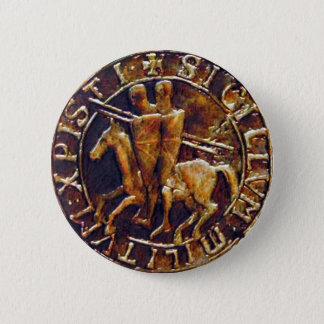 Badge Rond 5 Cm Joint médiéval des chevaliers Templar