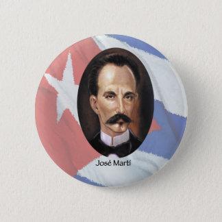 Badge Rond 5 Cm Jose Marti sur le drapeau cubain
