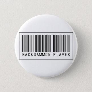 Badge Rond 5 Cm Joueur de backgammon de code barres