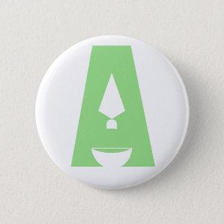 """Badge Rond 5 Cm Jour de bouton de logo de l'archéologie """"A"""""""