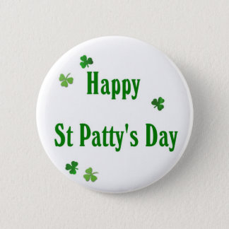 Badge Rond 5 Cm Jour de la St Patrick heureux