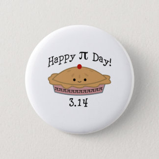 Badge Rond 5 Cm Jour heureux mignon de pi !