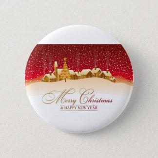 Badge Rond 5 Cm Joyeux Noël et bonne année