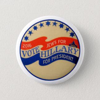 Badge Rond 5 Cm Juifs pour Hillary 2016