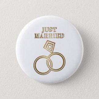 Badge Rond 5 Cm Juste épouser romantique marié d'anneaux d'or