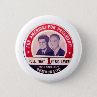 Badge Rond 5 Cm Kennedy et campagne de Johnson