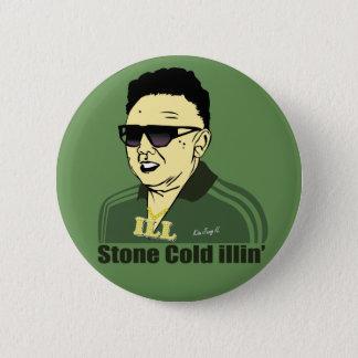 Badge Rond 5 Cm Kim Jung IL se boutonnent