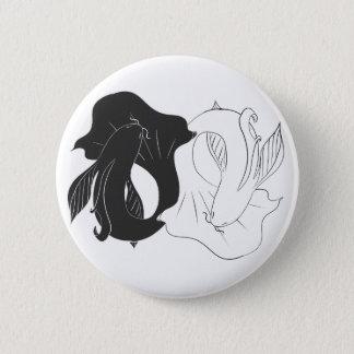 Badge Rond 5 Cm Koi de Ying et de Yang