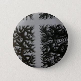 Badge Rond 5 Cm kreutz flame noirs