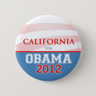 Badge Rond 5 Cm La CALIFORNIE pour Obama 2012