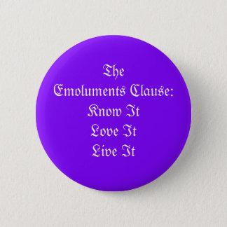 Badge Rond 5 Cm La clause d'émoluments
