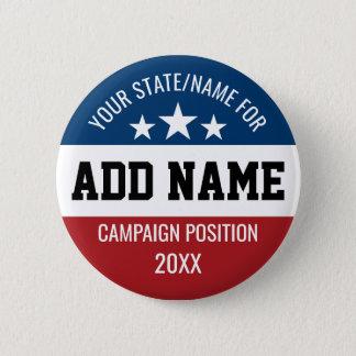 Badge Rond 5 Cm La coutume ajoutent votre état nommé - campagne