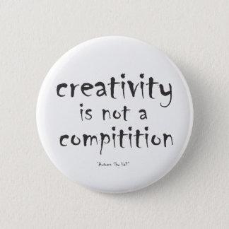 Badge Rond 5 Cm La créativité n'est pas une concurrence